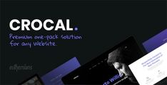 Crocal - Responsive Multi-Purpose WordPress Theme Cosmetic Shop, Themes Free, Creative Portfolio, Grid System, Creating A Business, Wordpress Template, Corporate Business, Premium Wordpress Themes, Website Template