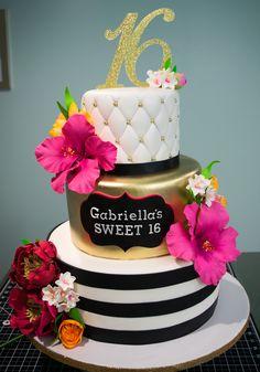 Sweet 16 Birthday Cake, Birthday Cake Girls, 16th Birthday, Geek Birthday, Birthday Cakes, Pretty Cakes, Cute Cakes, Beautiful Cakes, Sweet Sixteen Cakes