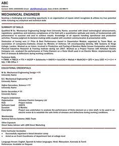 Automotive Engineering Resume