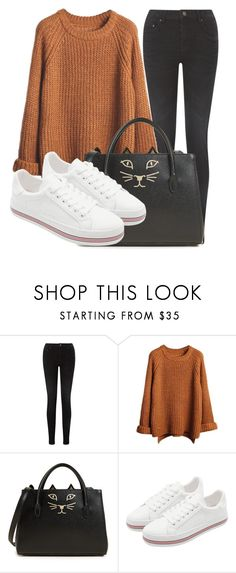 """Outfit #1872"" by lauraandrade98 on Polyvore featuring moda, Pieces y Charlotte Olympia"