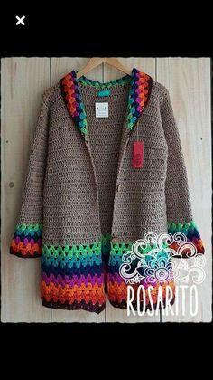 Crochet Hooded Baby Cardigan Making - Hakeln Crochet Cardigan Pattern, Crochet Jacket, Crochet Poncho, Knitted Baby Cardigan, Crochet Baby, Baby Knitting Patterns, Crochet Patterns, Sewing Patterns, Crochet Videos