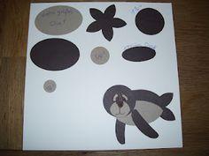Juttas Bastelecke - das Kartenparadies: Punch Art - Seehund
