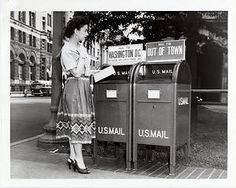 """""""Woman Mailing a Letter"""" by Smithsonian Institution **This is a Promotional Post… Mail Call, You've Got Mail, Going Postal, Thing 1, Those Were The Days, Favim, Post Office, Vintage Images, Vintage Photographs"""