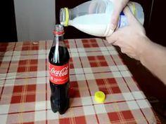 Coke mixed with Milk Experiment - Kola ve Süt Karıştırılırsa Ne Olur? What Happens If You, Shit Happens, Corn Syrup, Alcoholic Drinks, Beverages, Cocktails, Easy Meals, Easy Recipes, Entertaining