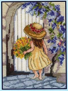 Gallery.ru / Фото #9 - Mala gratulantka - zuzas Cross Stitch For Kids, Simple Cross Stitch, Cross Stitch Baby, Cross Stitch Flowers, Cross Stitch Charts, Cross Stitch Designs, Cross Stitch Patterns, Cross Stitching, Cross Stitch Embroidery