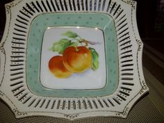 Occupied Japan Peach Serving Dish by maggiecastillo on Etsy, $7.48