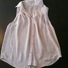 Body central tank Flowy tank top. Sheer.  button up Body Central Tops Blouses
