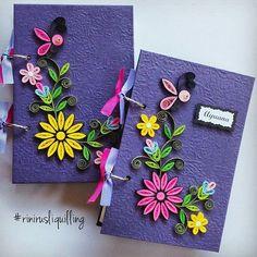 Paper quilling notebook  #rinirusliquilling #notebook #handmade #kadounik #madebyorder