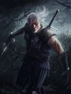 Geralt of Rivia - The Witcher Created byRaymond Minnaar / Find this artist onWebsite-Tumblr-Facebook-Twitter / More Arts from this artist on my TumblrHERE