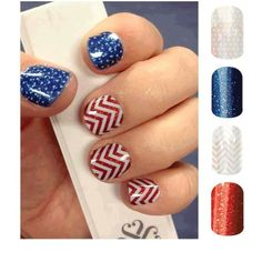 PERFECT! Buy 3 get one FREE!! Jamberry Nail Wraps- Raspberry Sparkle Sapphire Sparkle White Mini Polka & White Chevron on Clear!!!