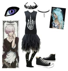 """""""Darkness"""" by anime-loverx on Polyvore featuring Converse"""