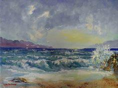 Australian  landscape photo art print seascape beach sand ocean 700mm x450mm