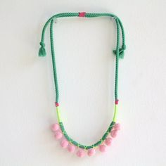 Lulu Pom Pom Necklace by MaypoleDesign on Etsy, $30.00