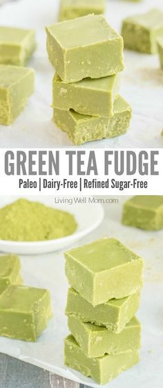 Love green tea? You won't be able to resist this incredibly easy Green Tea Fudge recipe. It's rich, satisfying, and provides a nice energy boost, thanks to the matcha green tea powder. Plus this recipe is Paleo, meaning it's dairy-free, refined sugar-free and grain-free! #tea #greentea