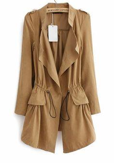 drawstring trench coat