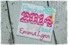 Hey, I found this really awesome Etsy listing at https://www.etsy.com/listing/194440139/preschool-2015-grad-embroidered
