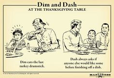 Dim & Dash: At the Thanksgiving Table