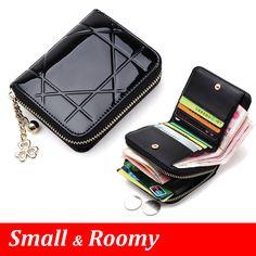 특허 가죽 여성 짧은 지갑 작은 지갑 지퍼 넉넉한 동전 지갑 여성 신용 카드 지갑 지갑 돈 가방 5012