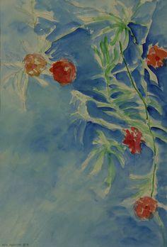 Mein Oleander/Aquarell ©Tobias Windlinger
