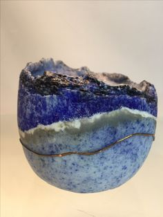 "Pate de verre ""Winter Evening"" by LouBee Ferguson"