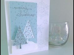 ▶ Simply Simple FLASH CARD - Wintertime Christmas Card by Connie Stewart - YouTube#t=523