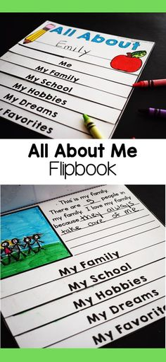 I like to start the new school year by having my students complete an all about me activity. I created this get to know you flipbook craft to help teachers get to know their new students at back to school time. Graphing Activities, First Grade Activities, Teaching First Grade, Preschool Games, Back To School Activities, Writing Activities, School Ideas, Easy Birthday Party Games, 1st Day Of School
