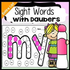 Sight Word Practice with Daubers | Sight Word Activities {