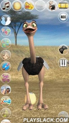 Talking Joe Ostrich  Android App - playslack.com , Talk to Joe Ostrich the bird. He answers with his funny voice and reacts to what you say or your touch. It has 4 exciting inside games with many levels to play and the amazing sound board!Spend some time with Joe this curious Ostrich from Africa and become his friend. He has some funny habits like; sticking his head in the sand, stretches his neck as much as he can, hatches the egg and much more.★★★ Features: ★★★✔ High quality 3D graphics✔…