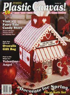 Valentine Patterns Plastic Canvas Magazine via Etsy