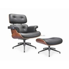 The Kennedy Upholstered Lounge Chair and Ottoman – Black is a gorgeous reproduction of the Eames Lounge and Ottoman an original. Ottoman Furniture, Chair And Ottoman, Modern Furniture, Eames Style Lounge Chair, Office Chairs For Sale, Black Ottoman, Antique Chairs, Living Room, Design