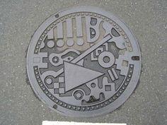 Fukuoka city manhole cover.
