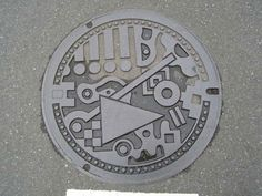 Fukuoka city manhole cover.