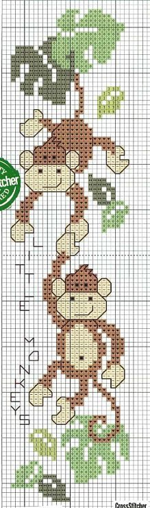 monkeys cross stitch
