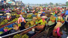 Pasar Terapung Lok Baintan, Kabupaten Banjar, Kalimantan Selatan