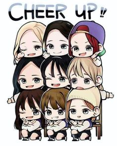 Twice chibi twicechibi cute pretty kpop freetoedit. Kpop Fanart, K Pop, Twice Fanart, Jihyo Twice, Kpop Drawings, Twice Kpop, Disney Fan Art, Illustration Sketches, Cheer Up