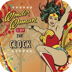 The Wonder Woman Dinner Plates come 8 in a package.  Features great character quotes.