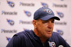 Tennessee Titans head coach Mike Mularkey responds to a reporter's question after an NFL football game against the Detroit Lions, Sunday, Sept. 18, 2016, in Detroit. (AP Photo/Jose Juarez)
