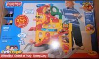 Fisher-Price Little People Wheelies Stand n Play RampwayFREE GIFT CARD,SHIP,GIFTBAG,NO FEE,PHOTO$$