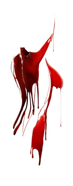 female form dripping red paint
