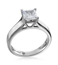 Jeff Cooper - Engagement Classics Platinum Princess Setting