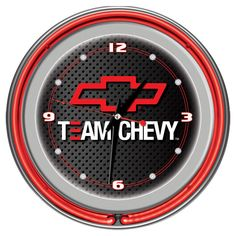 For Dad - A Chevrolet-inspired Wall Clock with neon frame.  All the guys in my life would LOVE this clock because they are Chevy all the way....