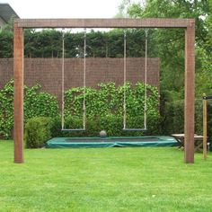 The pergola kits are the easiest and quickest way to build a garden pergola. There are lots of do it yourself pergola kits available to you so that anyone could easily put them together to construct a new structure at their backyard. Backyard Swing Sets, Backyard Playset, Pergola Swing, Backyard Pergola, Backyard For Kids, Pergola Kits, Pergola Ideas, Cheap Pergola, Garden Swings