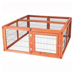 TRIXIE 3.8 ft. x 3.6 ft. x 1.6 ft. Medium Outdoor Enclosure with Mesh Cover Run-62281 at The Home Depot.  Idea for building one for the girls for grass time.