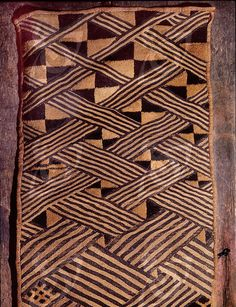 central Congo // These raffia dance skirts were woven in pieces by men using upright single-heddle looms, then sewn together and embroidered using a cut-pile technique by women. As well as their use by women in dances at rituals, they were stored and presented by family members at burials.