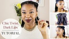 The Ultimate Tutorial to Autumn Protective Hairstyle And Makeup For Black Girls