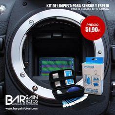 No descuides el cuidado de tu #cámara y consigue este Kit de limpieza EYELEAD PREMIUM para mantener en pleno rendimiento tu espejo y sensor, por tan solo 51,90 €. Visita: http://bargainfotos.com/home/378-kit-eyelead-premium-para-limpieza-sensor-y-espejo.html