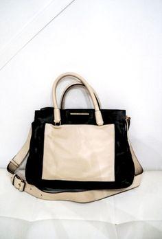 B&W colour block two tone Preloved/ gently used. Two tone Jina black tote bag monochrome Black Tote Bag, Color Blocking, Monochrome, Gym Bag, Marc Jacobs, Autumn Fashion, Fashion Accessories, Purse, Shoulder Bag