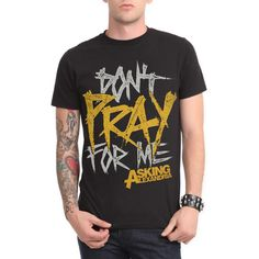 Asking Alexandria Don't Pray T-Shirt | Hot Topic (25 CAD) ❤ liked on Polyvore featuring tops and t-shirts