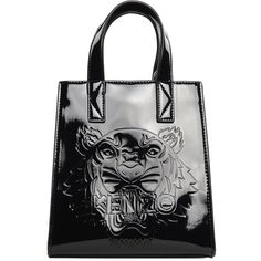 Kenzo Mini Tiger Leather and Pvc Cross-Body Bag (1,680 GTQ) ❤ liked on Polyvore featuring bags, handbags, shoulder bags, nero, leather purses, genuine leather shoulder bag, leather handbags, leather crossbody and leather cross body handbags