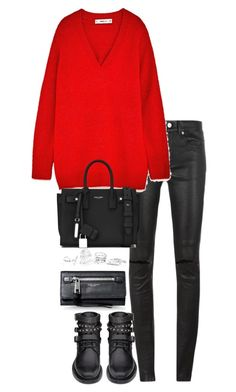 """Untitled #3544"" by theeuropeancloset on Polyvore featuring Yves Saint Laurent, GUESS and Marc Jacobs"